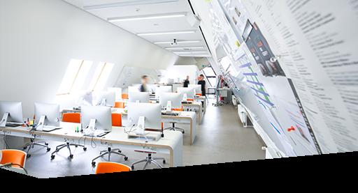 Aufnahme des Mac-Arbeitsraums in der Dr. Buhmann Akademie in Hannover