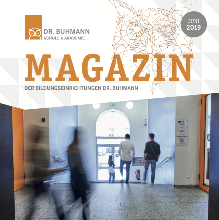 Titelbild des Magazins der Dr. Buhmann Schule und Akademie Juni 2019