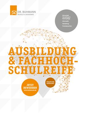 """Titelblatt der Informationsbroschüre """"Ausbildung und Fachhochschulreife"""""""