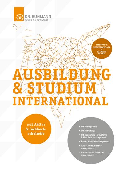 """Titelblatt der Informationsbroschüre """"Ausbildung und Studium international"""""""