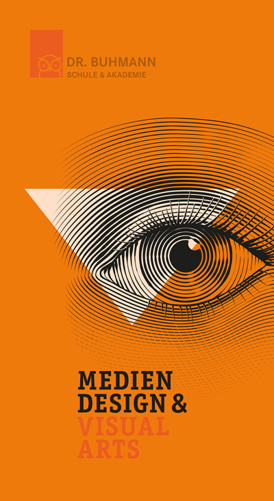 "Titelblatt der Informationsbroschüre ""Mediendesign & Visual Arts"""