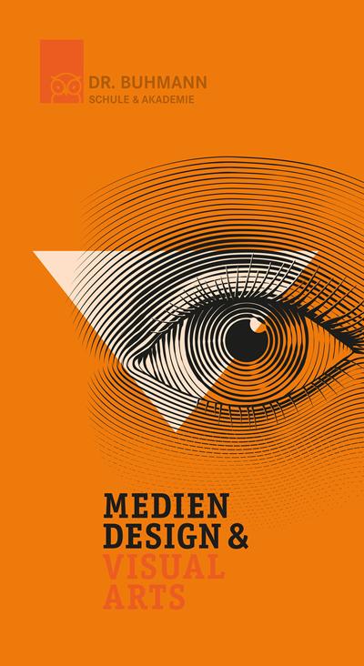 """Titelblatt der Informationsbroschüre """"Mediendesign & Visual Arts"""""""