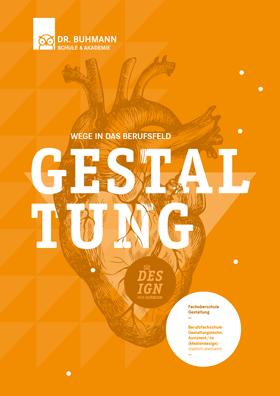 """Titelblatt der Informationsbroschüre """"Wege in das Berufsfeld Gestaltung"""""""