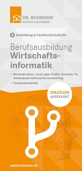 """Titelblatt des Flyers """"Berufsausbildung Wirtschaftsinformatik"""""""