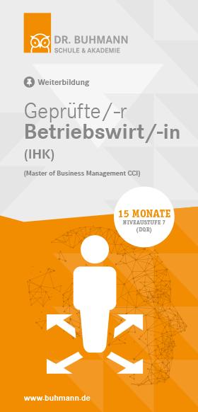 "Titelblatt des Flyers ""Geprüfte/-r Betriebswirt/-in (IHK)"""