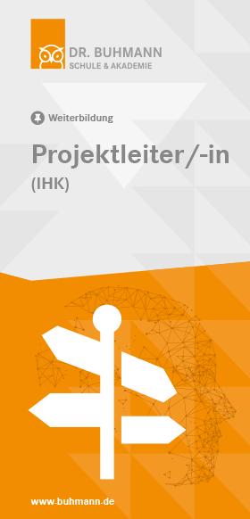 """Titelblatt des Flyers """"Projektleiterin/-in (IHK)"""""""