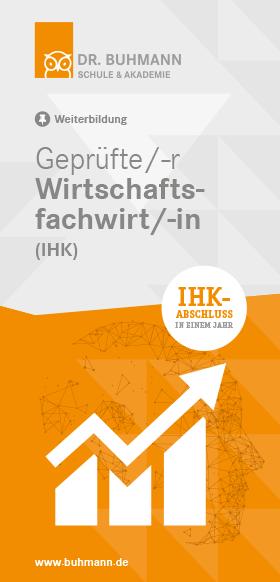 """Titelblatt des Flyers """"Geprüfte/-r Wirtschaftsfachwirt/-in (IHK)"""""""