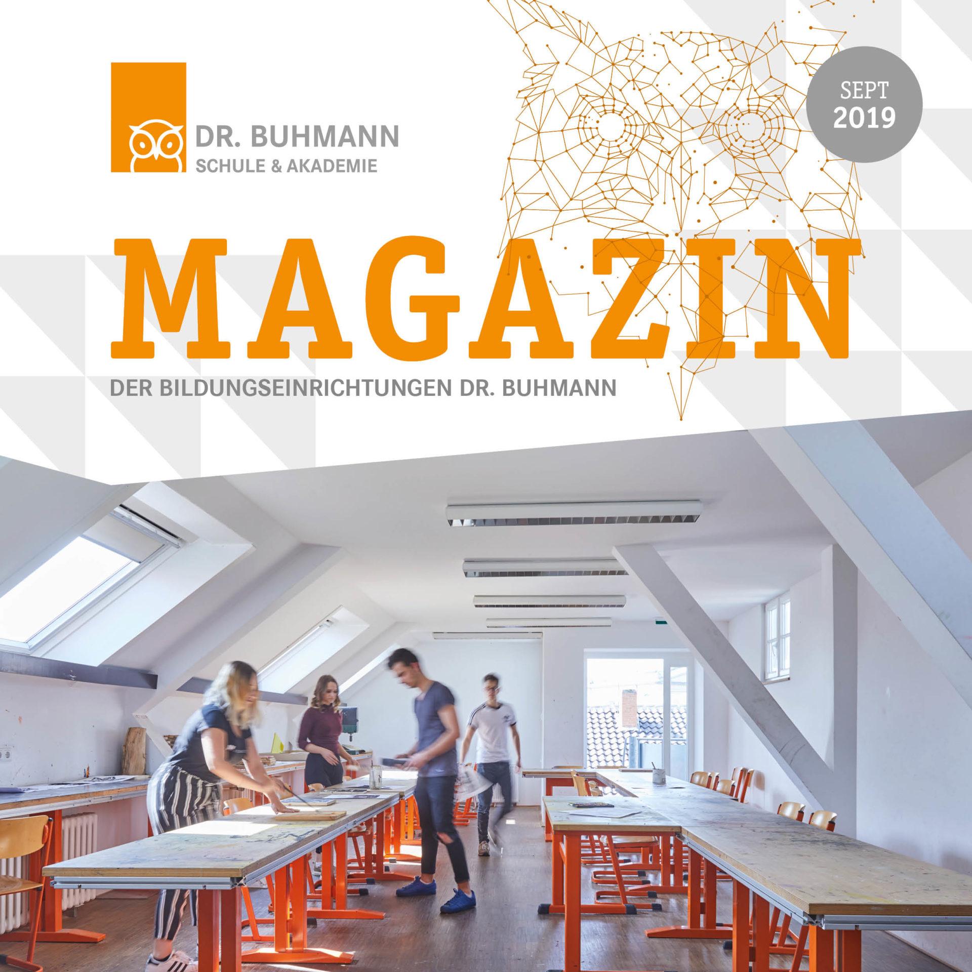 Titelblatt der Septemberausgabe des Dr. Buhmann Magazins